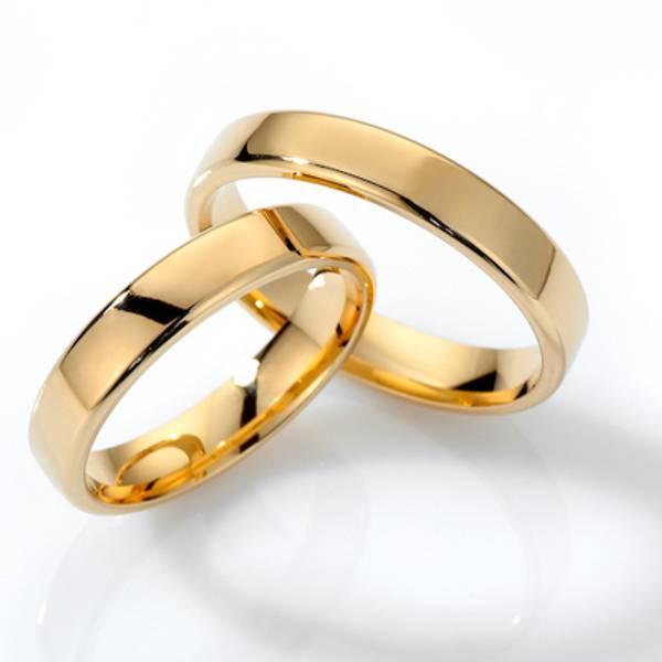 Forlovelsesringer SpesialPris gult gull 4mm